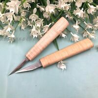 10pcs High Grade small carving knives with maple handle ,sharp steel