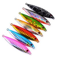7pcs Micro Jigs Luminous Slow Fall Fishing Jigging Lure Snapper inchiku Tuna Jig