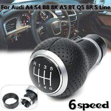 PU Cuero 6 Pomo Palanca de Cambios Marchas Knob For Audi A4 S4 B8 8K A5 8T 07-15