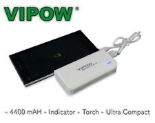 VIPOW 4400mAh Ultra Compact Power Bank Mobile Phone USB iPhone Samsung Charger