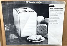 New listing Toastmaster Automatic Breadmaker Bread Machine Model 1172 Factory Recertified