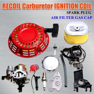 For Honda GX140 GX160 GX200 Service Carburetor Plug Ignition Coil Recoil Gaskets