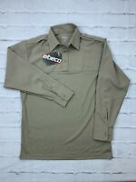 NEW Elbeco Classic Men's 16-16 1/2 34/35 Long Sleeves Collared Polo Shirt Brown