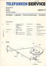Telefunken Service Schaltplan-Lagepläne  digitale 15   B1326