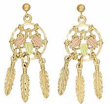 Ladies Dakota Black Hills Gold Dreamcatcher Stud Earrings KE 064