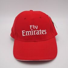 Fly Emirates Red Microfiber baseball cap Strapback Structured front Original tag