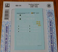 Microscale Decal N #60-14 Southern Railway Freight Cars (1969-1982) Decal Sheet