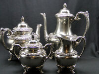 4pc 1847 Rogers Bros Heritage Silverplate Tea & Coffee Set Holloware