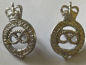 Staffordshire Yeomanry Staybrite Collar Badges