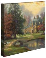 Thomas Kinkade Lakeside Manor 14 x 14 Gallery Wrapped Canvas