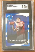 2017 Panini Donruss #327 Patrick Mahomes II RC Rated Rookie SGC 10 GEM Comp PSA