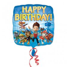 "18"" Square PAW PATROL Happy Birthday Foil Helium BALLOON Party Decoration"
