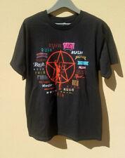 Rush Men's Starman Multiple Logos T-shirt Black Size Large Rare Hard To Find