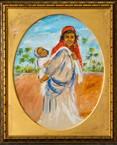 Jacques Majorelle (1886 - 1962) France, Africa Artist Watercolor/Gouache