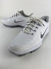 Nike React Vapor 2 Golf Shoes White Metallic Gray BV1135-101 Men's Size 8