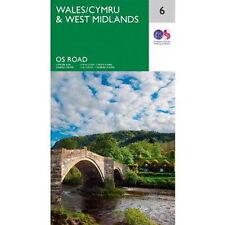 Wales & West Midlands Map 6 Ordnance Survey Road Map 1:250 000