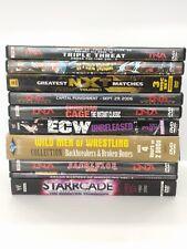 Wrestling DVD's  WWE - TNA -XPW -NXT - ECW - 10 DVD lot