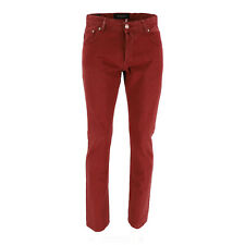 Kiton Jeans Mens Fireplace-Red Cotton Size 32 (Previously