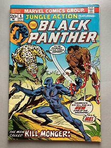 Jungle Action 6 • 1st Killmonger • 1973 Marvel Comics • FN 6.0