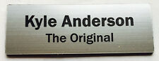 1 x Silver 60x20mm Name Badge Tag with Magnet Fastener FREE Post