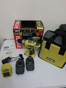 RYOBI ONE + LLCDI1802 18V HAMMER DRILL + x2 BATTERY + CHARGER- NEW- Complete Set
