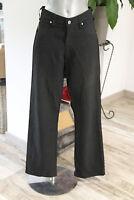 pantalon fluide gris foncé taille haute femme ARMANI JEANS taille 40-42