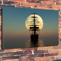 """""""Sailing To The Moon"""" Stunning Printed Canvas Picture A1.30""""x20""""30mm Deep"""