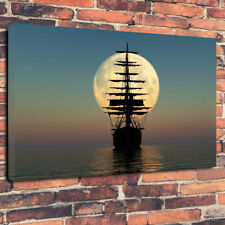 """Sailing To The Moon"" Stunning Printed Canvas Picture A1.30""x20""30mm Deep"