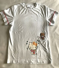 Hello Kitty SG Run Sanrio 2015 White Womens M Medium T Shirt Top Chum Running
