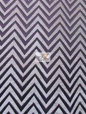 ZIG ZAG CHEVRON UPHOLSTERY FABRIC - Brown - BY YARD SOFA DRAPERY DECOR CHAIRS