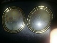 Vtg Homco Home Interior (2) Gold Oval Frame Pictures Church Lake Water F. Massa