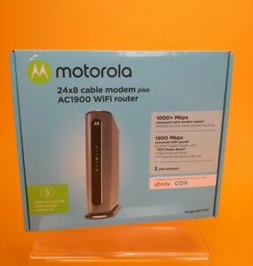 Motorola 8X4 Cable Modem Plus N450 WiFi Router MG7315 - OPEN BOX