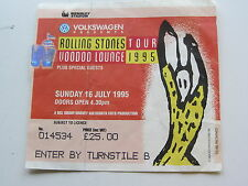 The Rolling Stones ticket 16TH juillet 1995, Wembley Stadium, Londres, Royaume-Uni