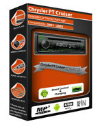 Chrysler PT Cruiser car stereo, Kenwood CD MP3 Player with Front USB AUX in