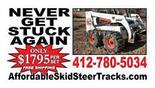 """Over the Tire Skid Steer Steel Tracks 10"""" for CATERPILLAR & Others"""