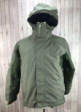 Bonfire Snowboarding Olive Green Men's Hoodie Jacket Size Small
