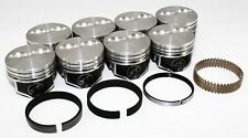 "Sealed Power Chevy 350 4.000"" Flat Top 2 VR Pistons & Moly Rings Kit SBC H631CP"