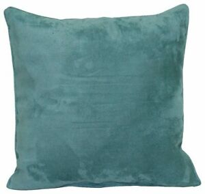 Brentwood Faux Suede Decorative Throw Pillow One Size Aqua blue