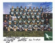 "1962 Philadelphia Eagles 8 1/2 x 11"" Team Photo w/ (6) Autographs and COA Cert."