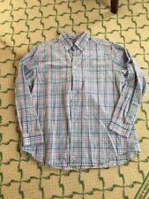 Vineyard Vines Slim Fit Murray Shirt Red Blue White Plaid Sz XL