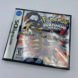 NEUF NEW Pokemon Platinum version Nintendo DS NTSC US Reproduction