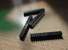 2.54 Header double row (2x16) made by Toby SLW-116-01-S-D  pack of 8  Z663