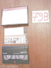 VIDEO8 VIDEO 8 VideoCassetta SONY SR60 SR 60 made in japan adesivi all'interno