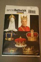 Royalty CROWN Headpiece Costume UNCUT Butterick BP235 Craft Sewing Pattern King