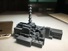 3d printed model of Chernobyl nuclear plant