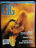 Gig Music Musician Magazine Vintage Issue January February 1989 Tim Joynt Click