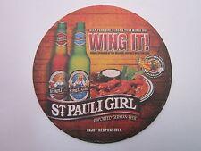 2009 Beer Coaster ~ ST PAULI GIRL Brewery Imported German Beer ~ Wing It! Trivia
