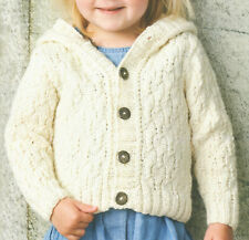 Easy to Knit Cosy Toddlers Cardigan Hoodie Textured Stitch DK Knitting Pattern