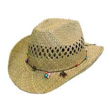pour filles et femmes Cow-boy paille chapeau soleil été