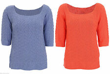 Women's Plus Size Short Sleeve Acrylic Jumpers & Cardigans